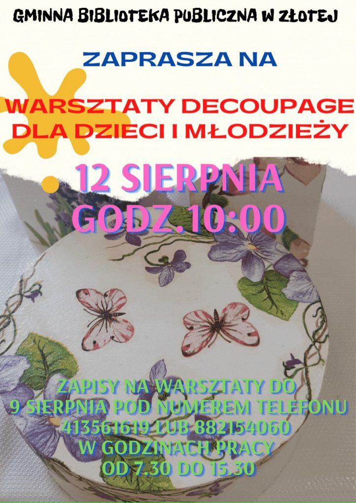 Warsztaty decoupage