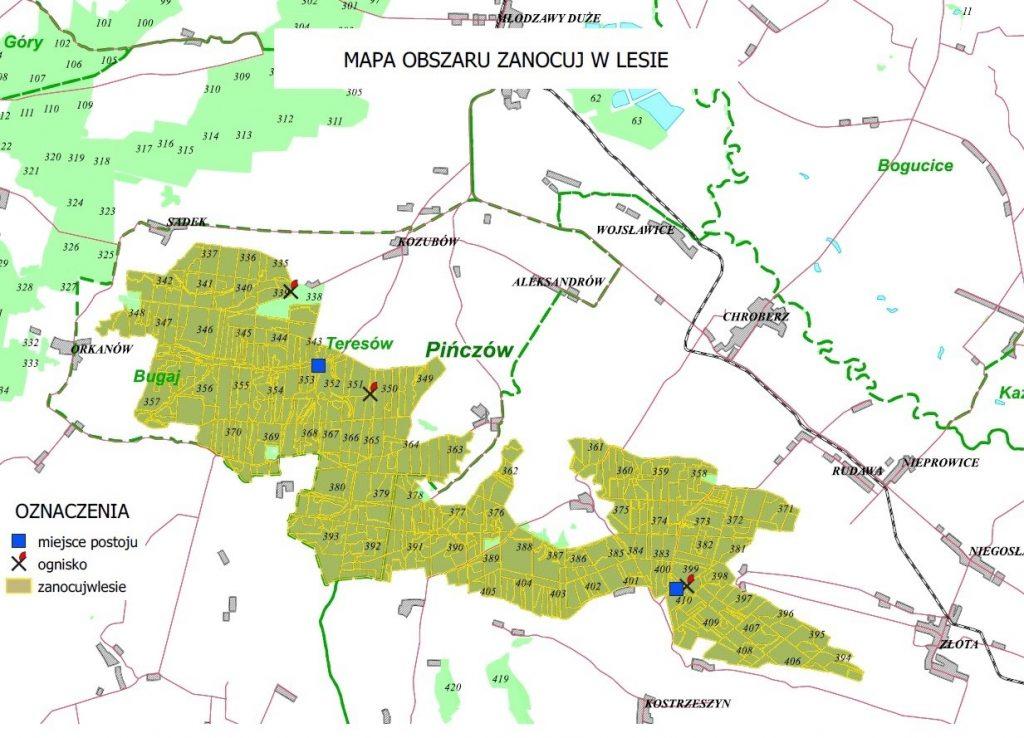 mapa las rudawa